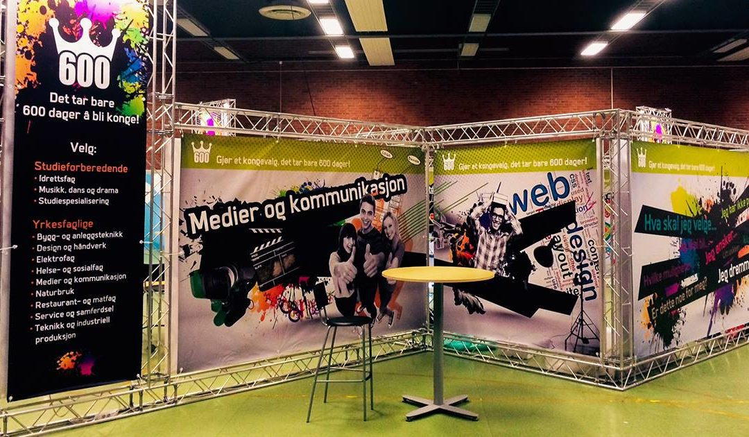 Messestand i Trondheim Spektrum